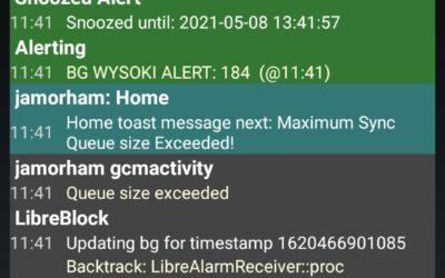 xDrip problem – queue size exceeded
